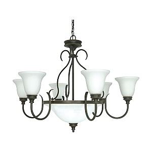 rustic bronze chandelier 12 light bistro light 60w incandescent rustic bronze chandelier fixture nuvo lighting 601103